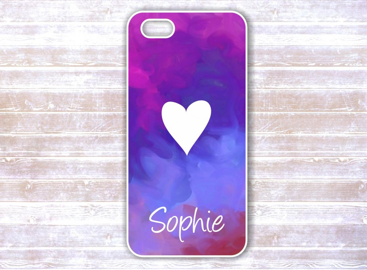 Personalized Iphone 5 Case - Monogrammed Heart iphone 4 Case - Custom iPhone Case