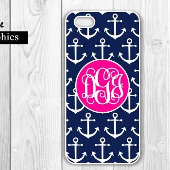 Anchor iPhone 4 /4S Case - Nautical Cusom Case - Protective iPhone Hard Cases