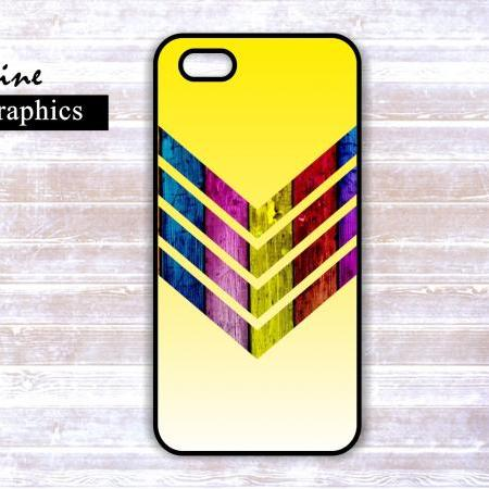 Personalized Chevron Wood Iphone 5 Case - 4/4S case - Samsung Galaxy S3 Case S4 Cover